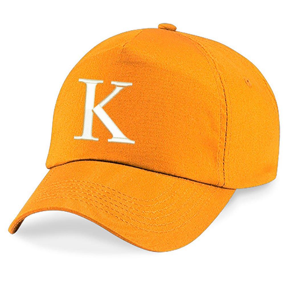 4sold New Casquette de Baseball Cap BROD/É Letter A z Gar/çon Fille Enfants Chapeau Bonnet Unisexe Orange