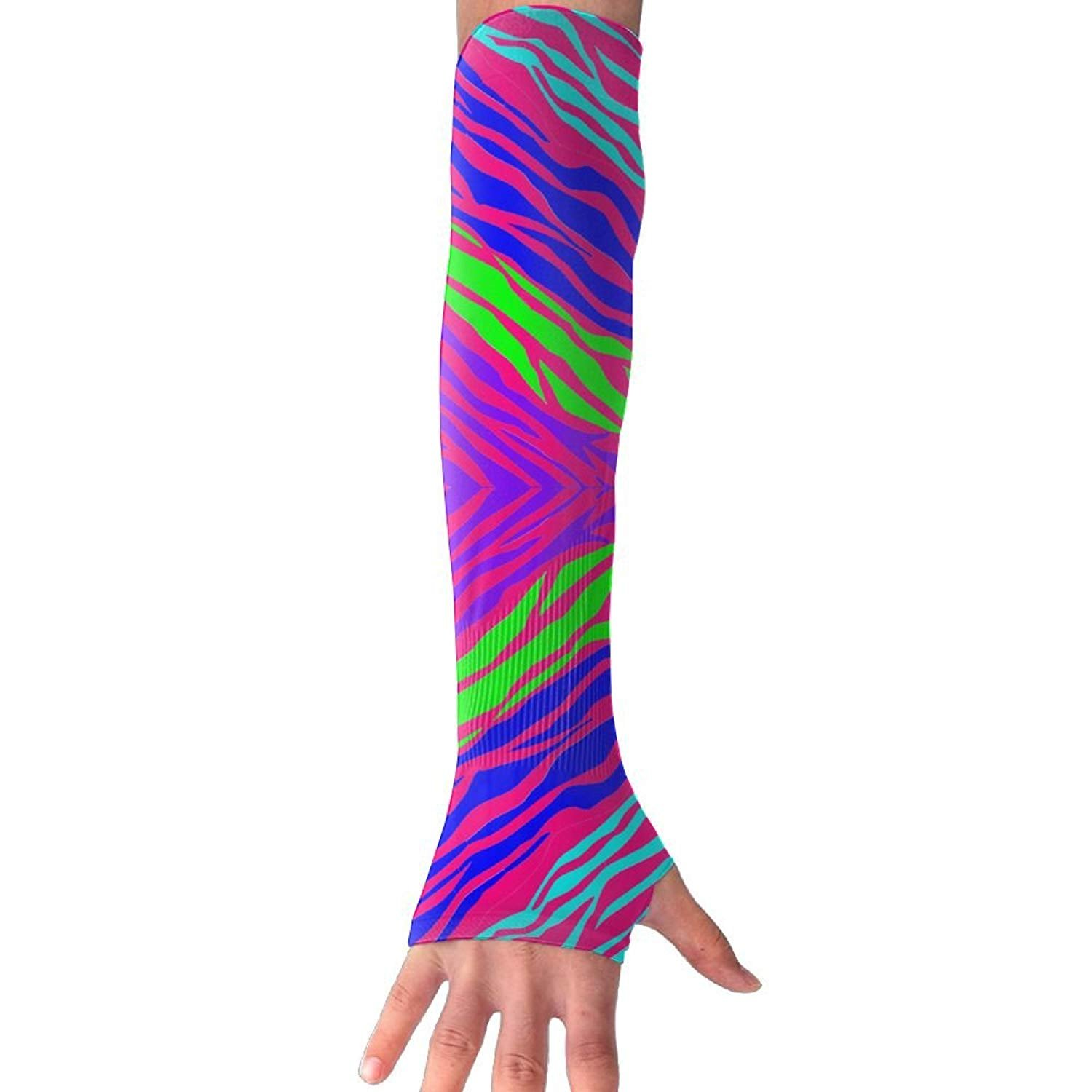 Unisex Color Animal Pattern Sense Ice Outdoor Travel Arm Warmer Long Sleeves Glove