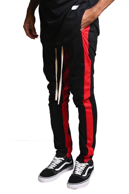 d7e302ec977 Kayden.k Skinny Fit Stretch Twill Striped Ankle Zip Pants (Large ...