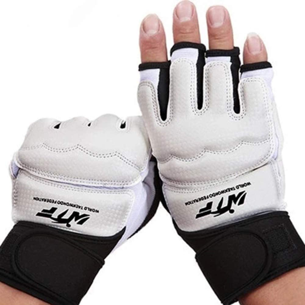 Boxing Gloves,Training Boxing Punch Bag Taekwondo Wrist Wraps Support Half-Finger Boxing Fight Gloves for Women Men Kids
