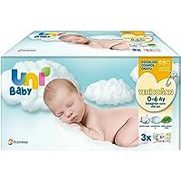 Uni Baby 7903763 Yenidoğan Islak Mendil 3'lü 120 Yaprak, Beyaz