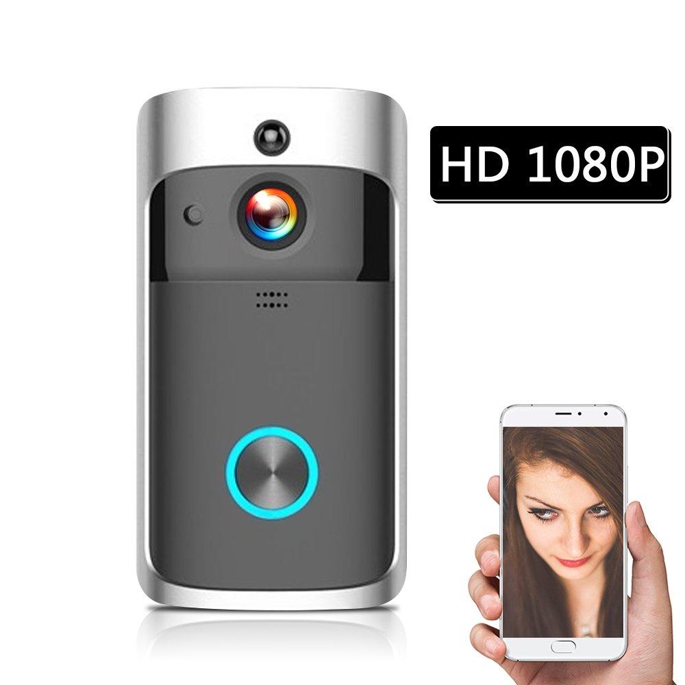 OWSOO WiFi Smart Wireless Security DoorBell Smart HD 1080P Visual Intercom Recording Video Door Phone Remote Home Monitoring Night Vision