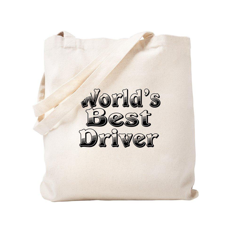 CafePress – Worlds Best Driverトートバッグ – ナチュラルキャンバストートバッグ、布ショッピングバッグ S ベージュ 0638863250DECC2 B0773V9FTB S