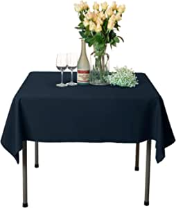 Amazon Com Veeyoo Square Tablecloth 54x54 Inch Polyester Table Cloth Washable Wrinkle Free Dinner Tablecloth For Wedding Party Restaurant Indoor And Outdoor Buffet Table Navy Blue Tablecloth Home Kitchen