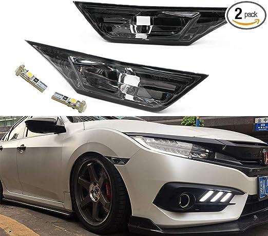 Honda Civic 10th Gen Switchback LED Side Marker Turn Signal Lamp Smoke For 2016