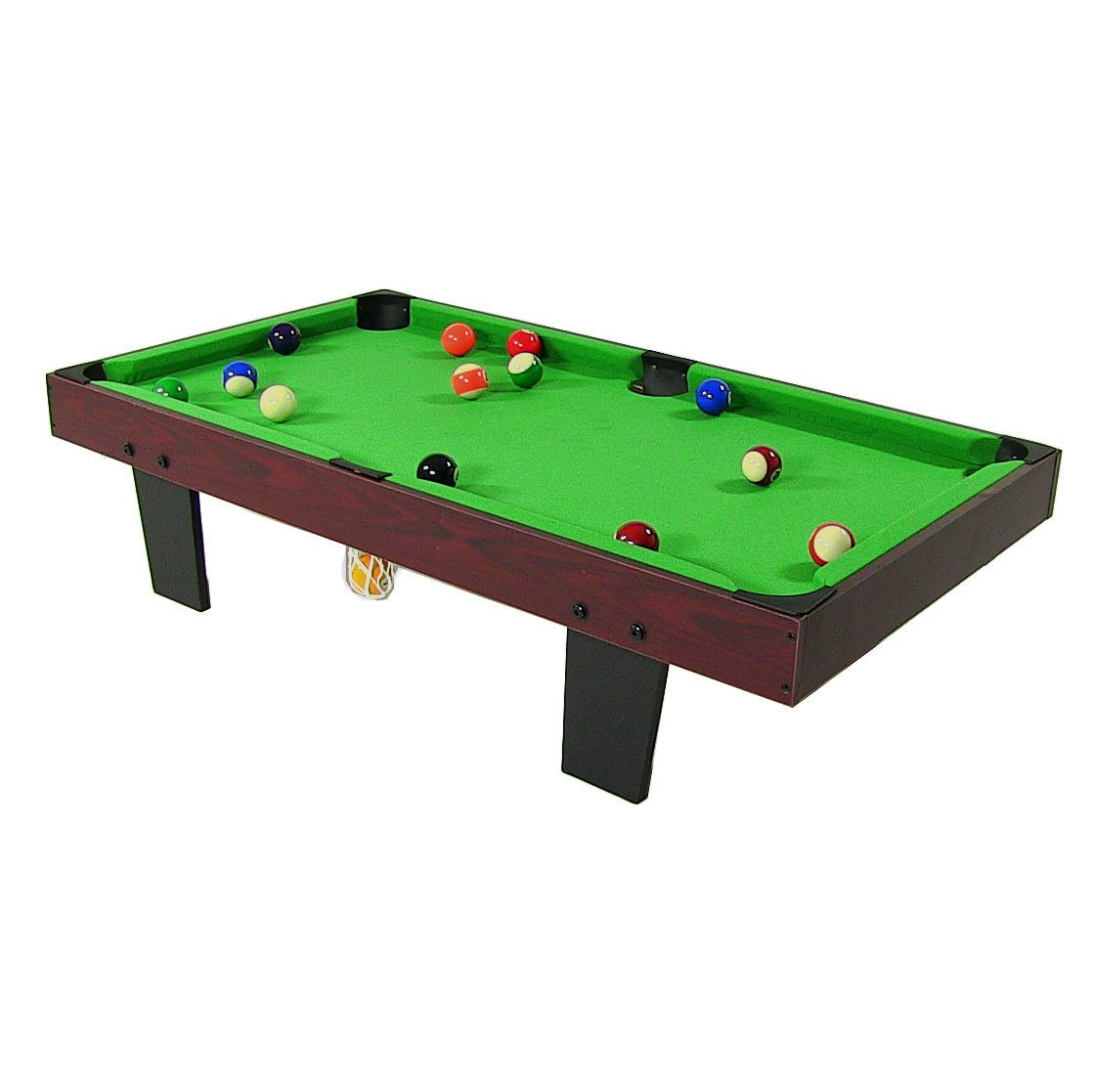 Amazon.com : Sunnydaze 36 Inch Mini Tabletop Pool Table With Triangle,  Balls, Cues, Chalk And Brush : Sports U0026 Outdoors