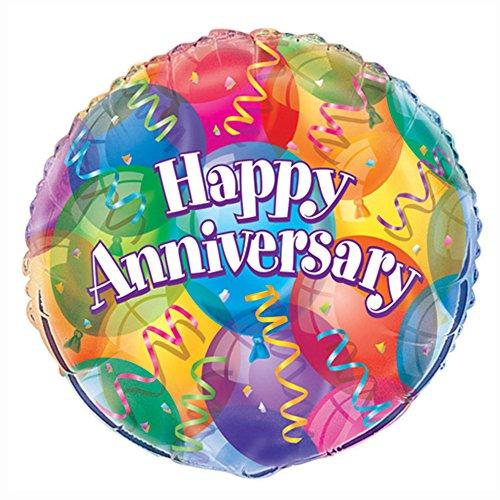 18 Foil Happy Anniversary Balloon
