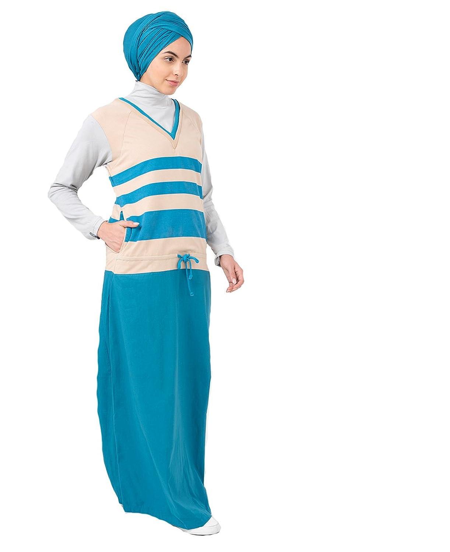 SilkRoute? Drawstring Jilbab Sporty design, Maxi Summer full sleeve Long Dres...
