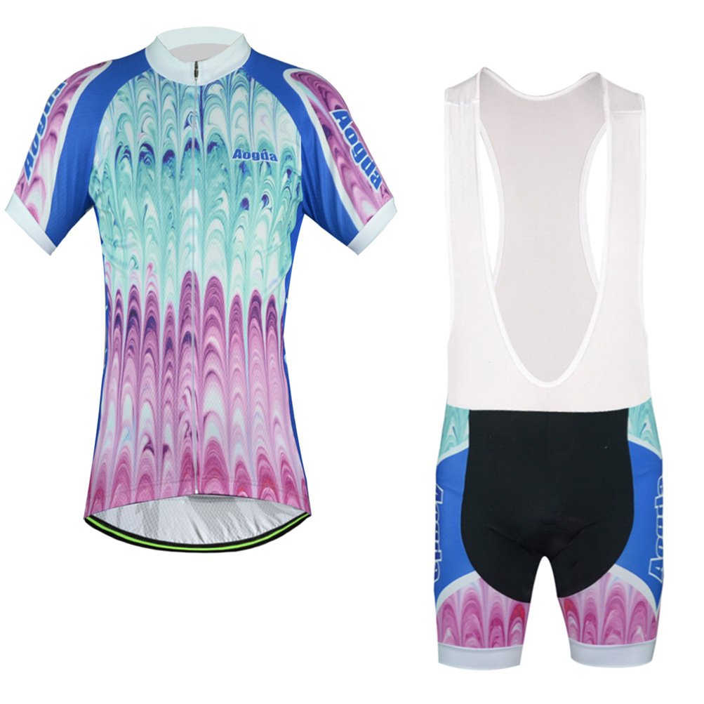 Uriah Women's Bicycle Jersey Bib Shorts Sets Short Sleeve Reflective Aogda