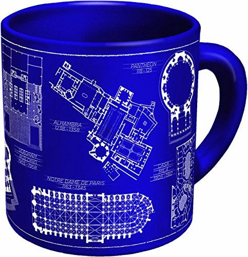 (Architecture Coffee Mug - Architectural Drawings of Famous Buildings - From Classic to Classical - Comes in a Fun Gift)