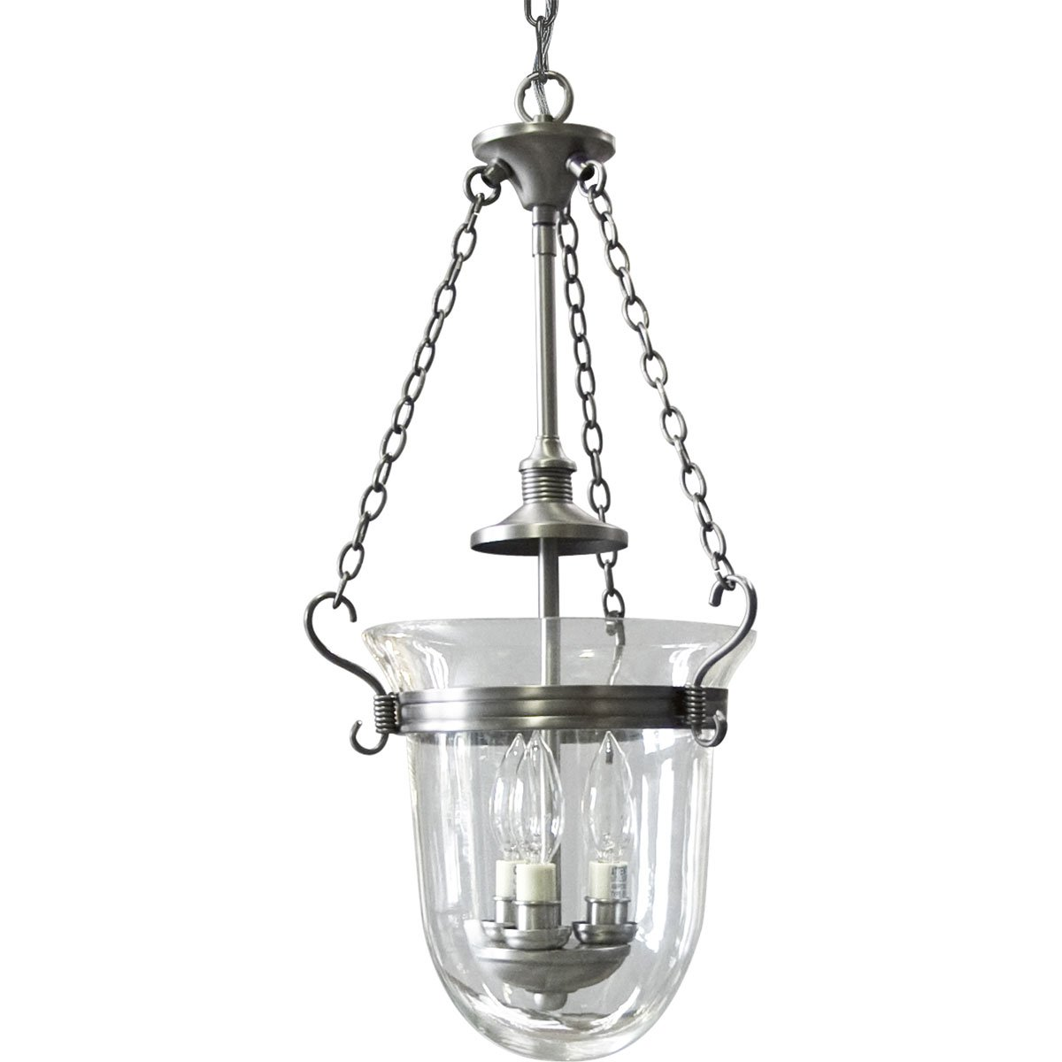 Progress lighting p3617 81 3 light inverted foyer with clear progress lighting p3617 81 3 light inverted foyer with clear hurrican glass shade antique nickel pendant lights amazon canada mozeypictures Choice Image