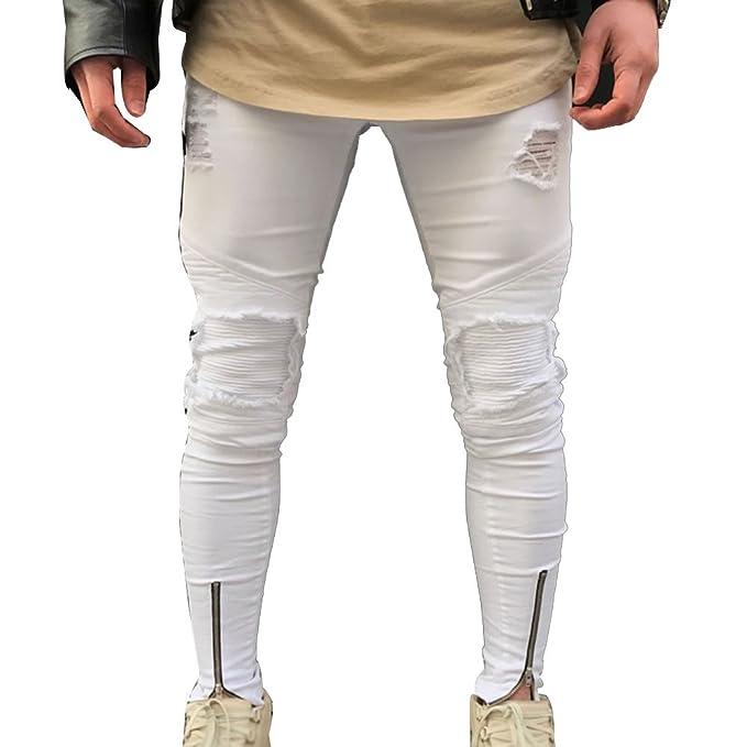 Pantalones vaqueros blancos hombre