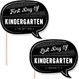 Big Dot of Happiness Kindergarten - First Day & Last Day of School Photo Props - Back To School - 2 Talk Bubbles