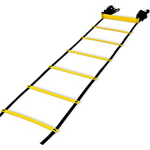 Teenitor 12 rung Agility Ladder Speed ladder Training ladder for Soccer, Speed, Football Fitness Feet Training with Carry Bag