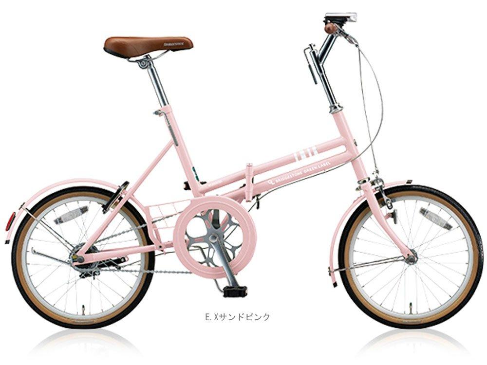 ブリヂストン(BRIDGESTONE) 2018 マークローザF(シングル)18インチ MRF81 折りたたみ自転車 EXサンドピンク 5103 B077NZ4KTR