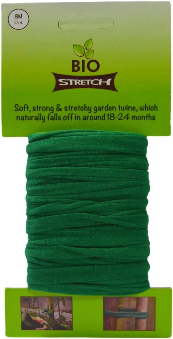 Biostretch, Soft Stretchy Garden Twine Environmentally Smart Non Twist Wire Plant Ties (Bio Card)