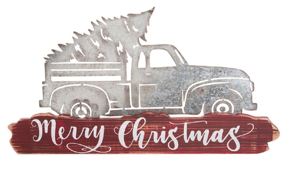 Ganz Merry Christmas Truck Wall Plaque