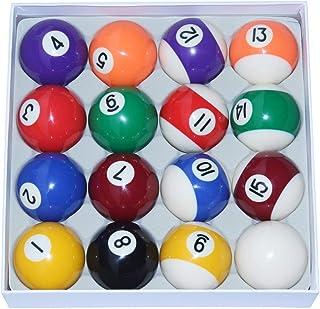 WXS Ballons de Piscine Spots and Stripes - Accessoires de Billard de 2 1/4 Pouces (57,5 mm)