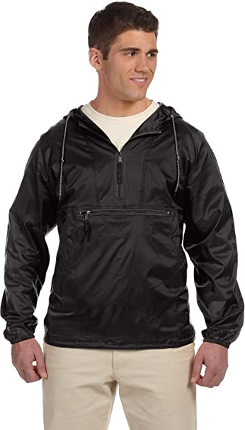 HA PACKABLE NYLON JACKET (BLACK) (3XL)