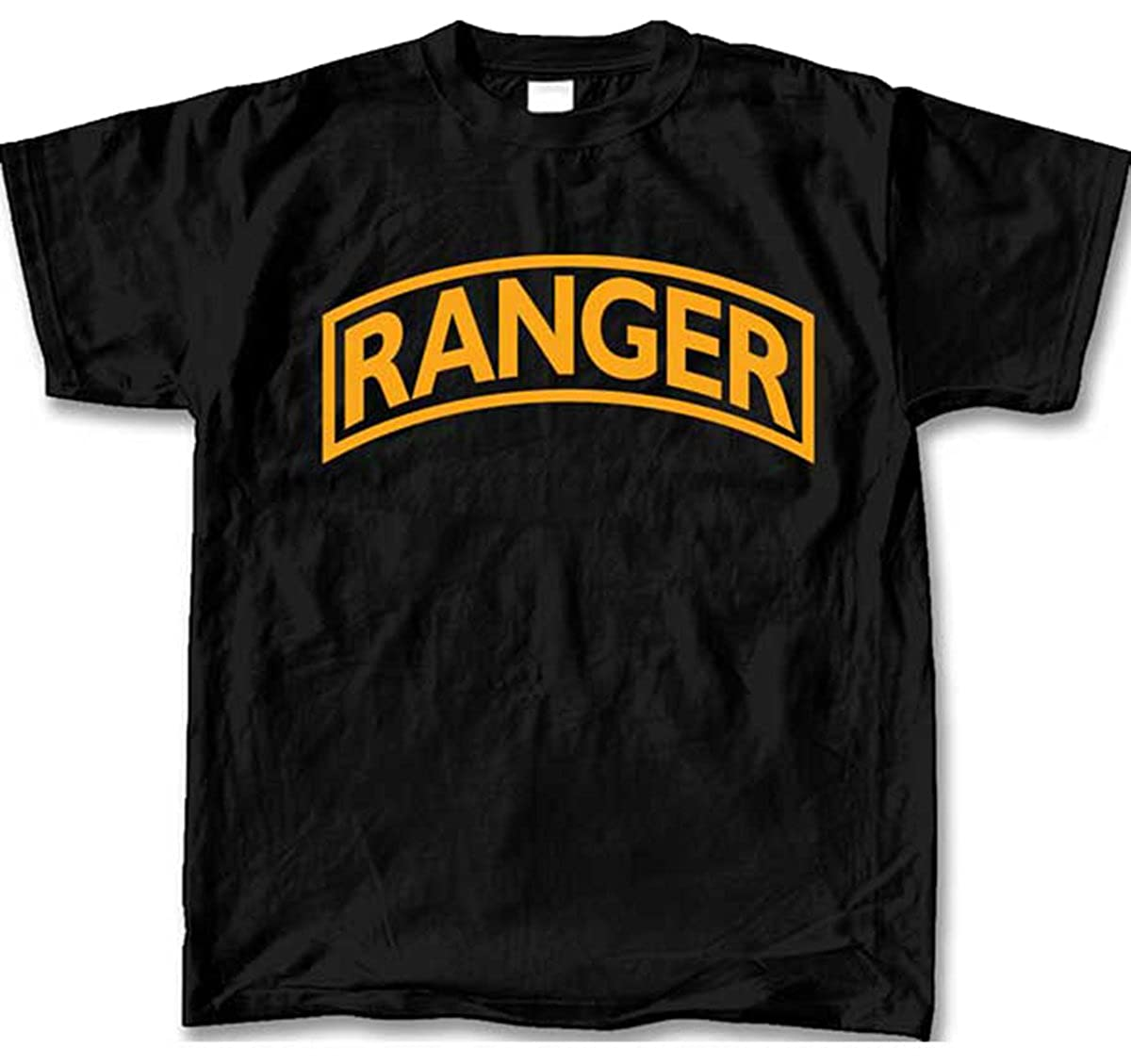 United States Army Ranger Mens Ss T Shirt Black Amazon Com