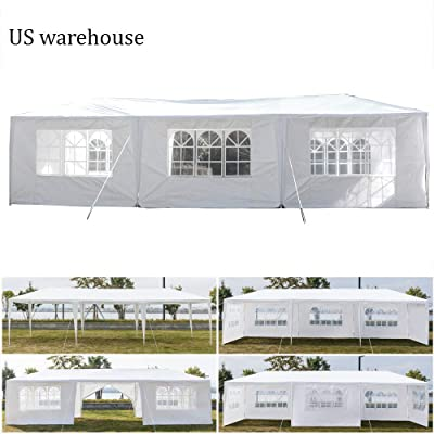 Teekland 10'x30' Outdoor Canopy Party Wedding Tent, Sunshade Shelter, Outdoor Gazebo Pavilion with 8 Removable Sidewalls Upgraded Thicken Steel Tube (10' x 30' / 8 Removable Sidewalls-1) : Garden & Outdoor