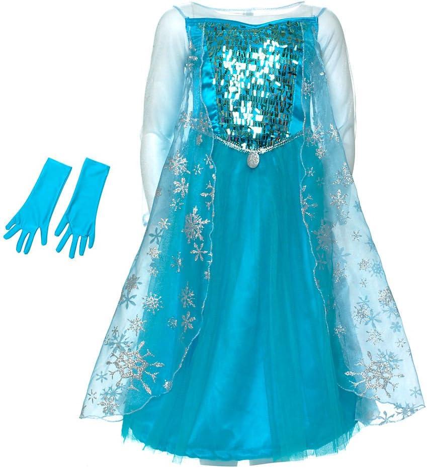 Disney Frozen: El Reino del Hielo - Disfraz Elsa lujo para niña ...