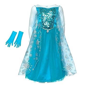 Disney Frozen: El Reino del Hielo - Disfraz Elsa lujo para niña - 5 - 6 años