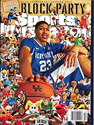 Anthony Davis · Hand Signed Sports Illustrated w/ Proof Pic & COA