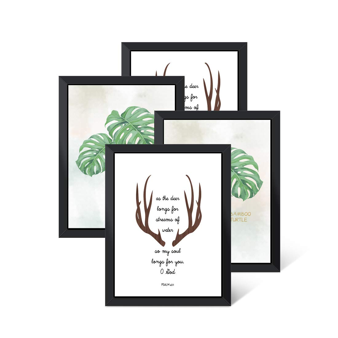 Picture Frame,4 Pack Black Photo Frame Wooden Wall Mounting Photo Frame Fit 11x14''Pictures Can be Hung in Portrait and Landscape by Suninhome