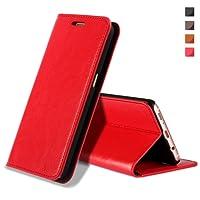 Coque Galaxy S9 Plus,Housse Galaxy S9 Plus, [en Cuir Véritable] pour Samsung Galaxy S9 Plus(Rouge)