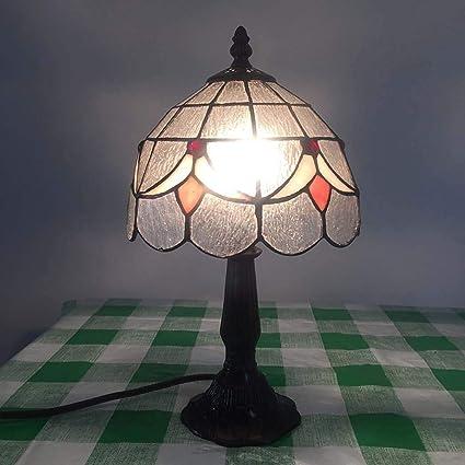 Lámpara de mesa de estilo Tiffany, lámpara de mesa de pétalo ...