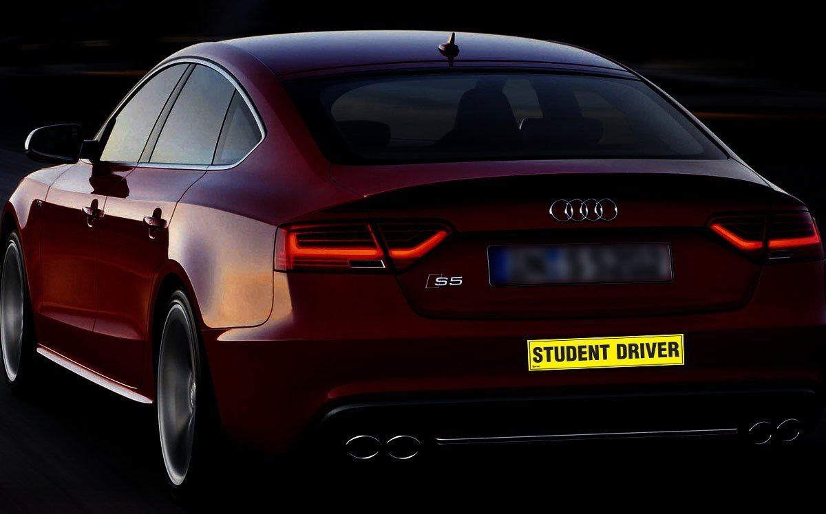 Pack of 3 ST7 Zento Deals Magnetic Student Driver Bumper Sticker 12 X 3 X 0.1 Inches
