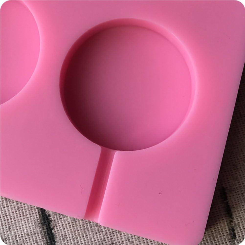 BESTONZON Silikon Lollipop Formen mit Sticks f/ür Cake Pop Schokoladen S/ü/ßigkeiten Rosa