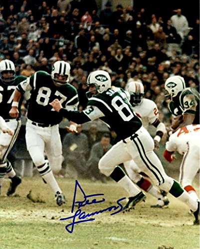 - Autographed Pete Lammons 8x10 New York Jets Photo
