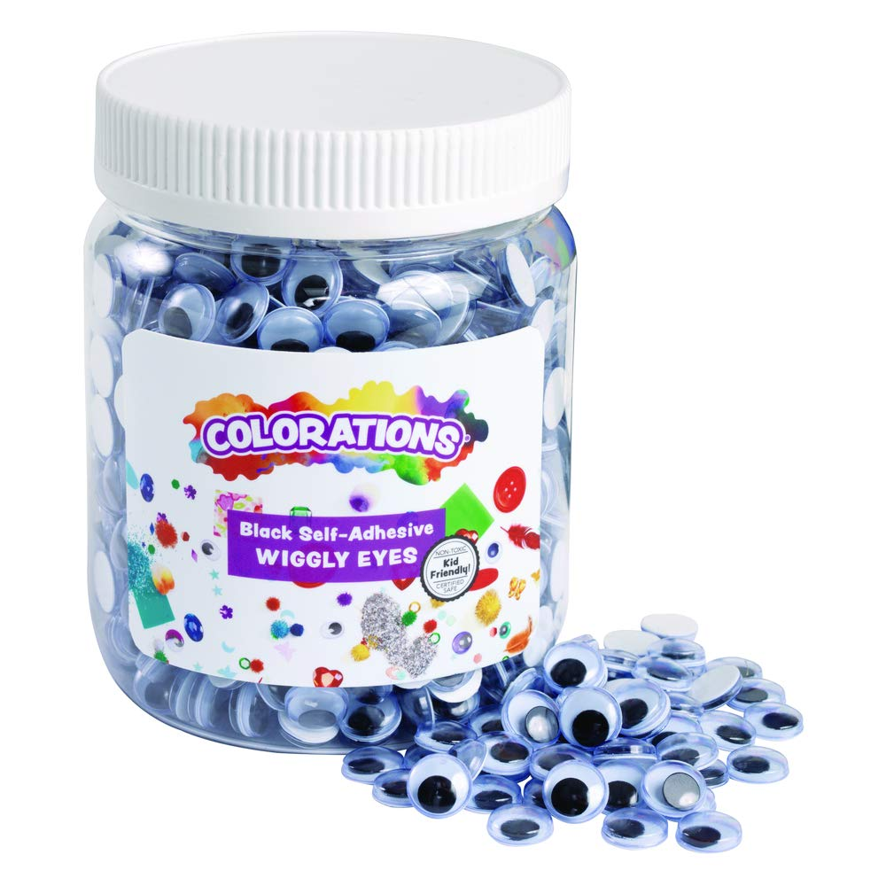 Colorations Self-Adhesive Wiggly Eyes - 1,000 Pieces (Item # EYE2EYE) by Colorations