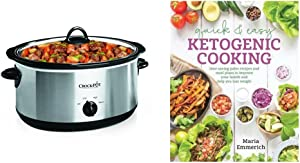 Quick & Easy Ketogenic Cooking: Meal Plans and Time Saving Paleo Recipes to Inspire Health and Shed Weight & Crock-Pot 7-Quart Oval Manual Slow Cooker, Stainless Steel (SCV700SS)
