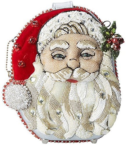 Shoulder Mary Hand Ho Bejeweled Handbag Santa Ho Ho Beaded Bag Frances Christmas Holiday xFFHIP