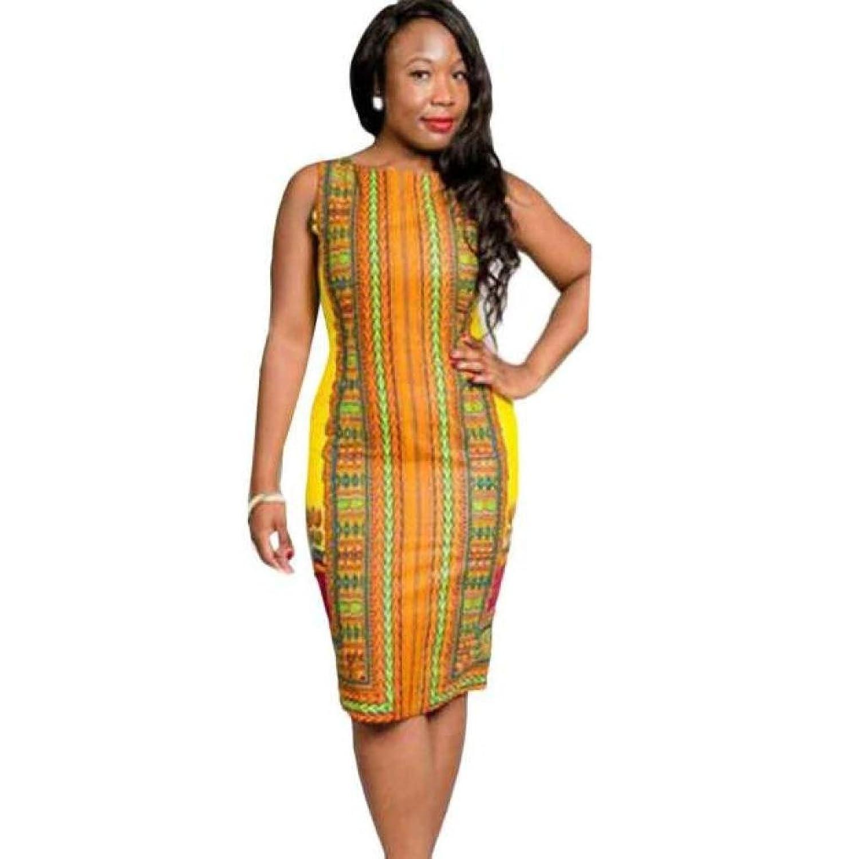 Sagton@ Sexy WomenWome O-Neck Sleeveless Bodycon Party Dress