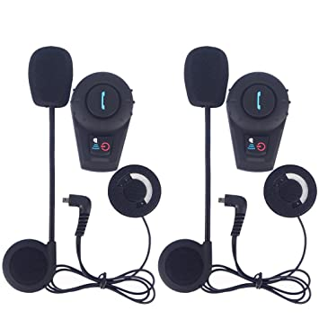 FreedConn 2 piezas moto BT Intercom Bluetooth Multi moto intercomunicador impermeable casco 500M