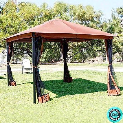 Beau SKEMiDEX   10u0027 X 12u0027 Regency Patio Canopy Gazebo Mosquito Net Netting