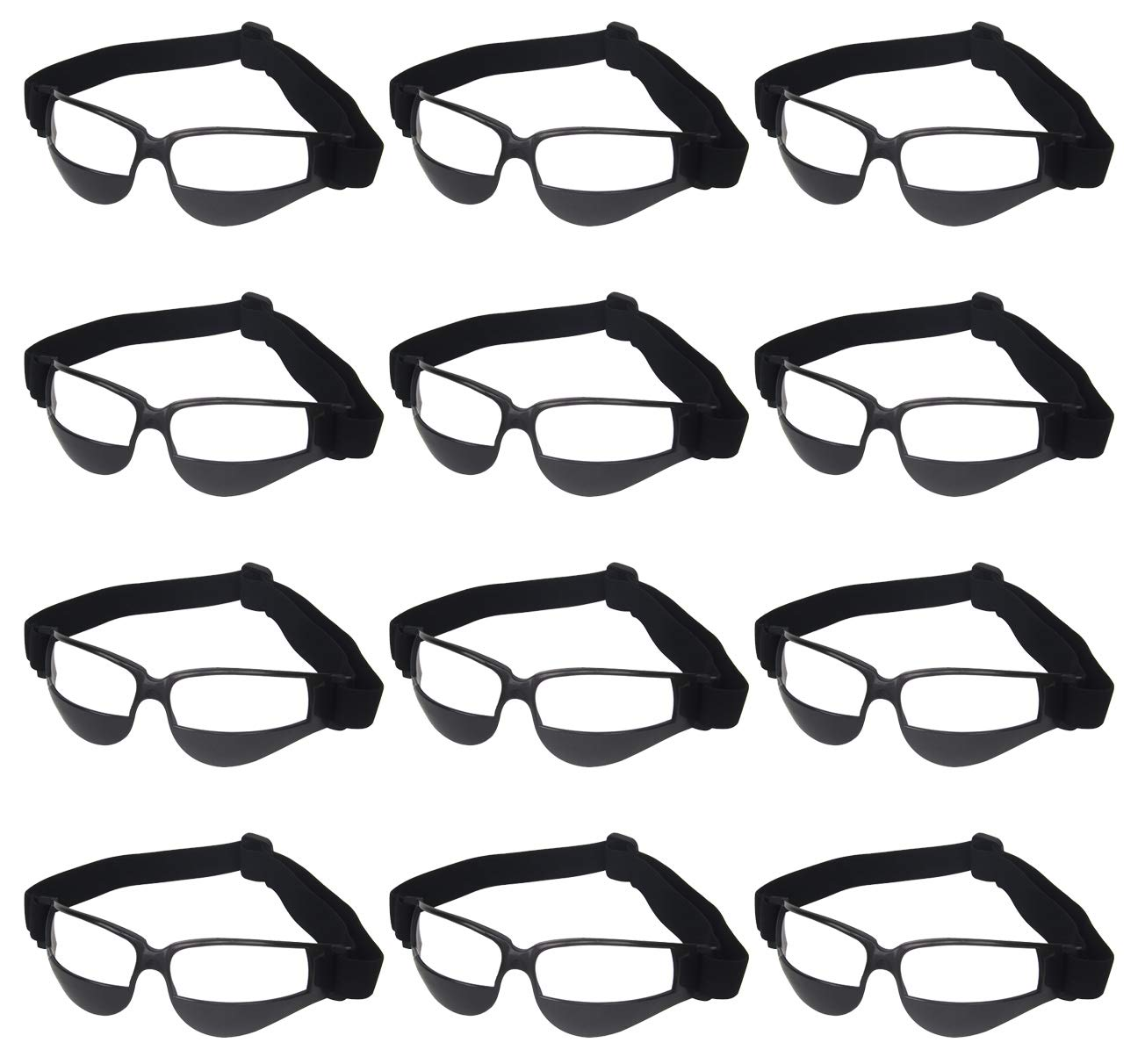 Liberty Imports Pack of 12 Basketball Dribbling Glasses No Look Eye Goggles Dribble Specs Training Aid Sports Equipment