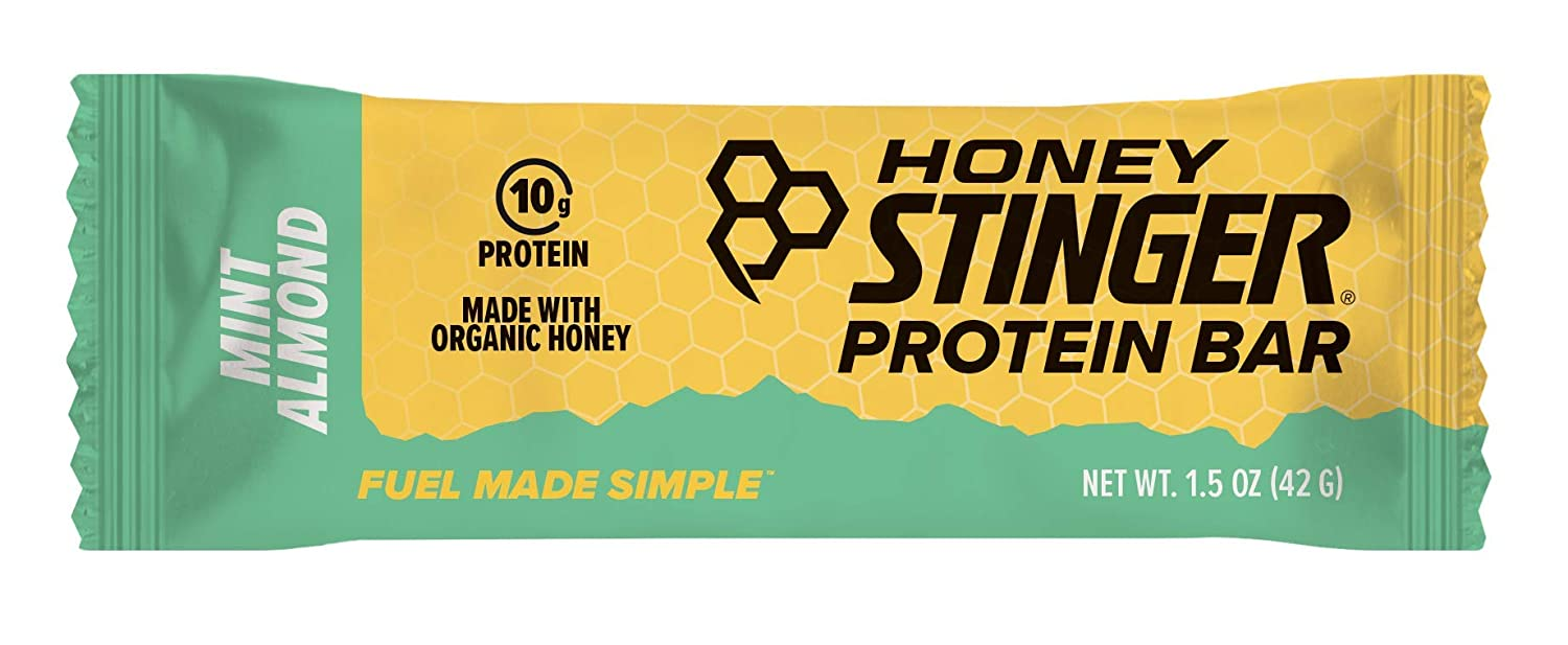Honey Stinger Protein Bar, Dark Chocolate Mint Almond, Sports Nutrition, 1.5 Ounce (Pack of 15)