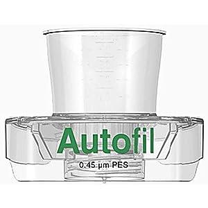 Autofil Sterile Disposable Vacuum Bottle Top Filters with 0.45um PES Membrane for Prefiltration or Clarification, 500mL, 24/CS