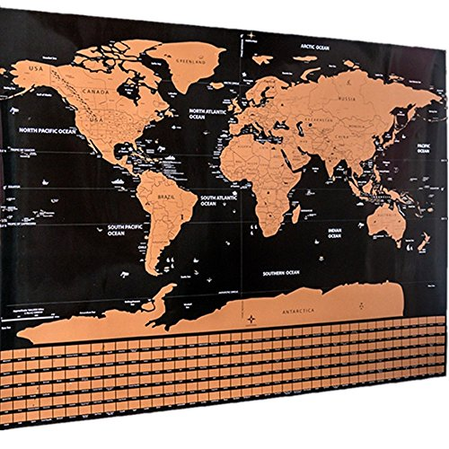 hot sale Large Scratch off World Map Poster (32.5 x 23.5 ...