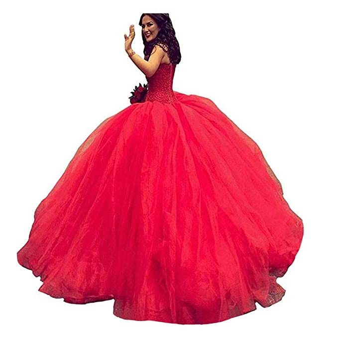 Fair Lady Sweetheart Princess Wedding Dress for Bride Red Ball Gown Bridal  Dresses Pageant Party Gown