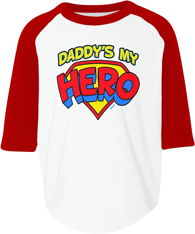 Amdesco Daddys My Hero Toddler Raglan Shirt