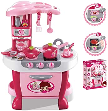 Buy Barbie Kitchen Set For Kids Girls Toys With Lights And Music