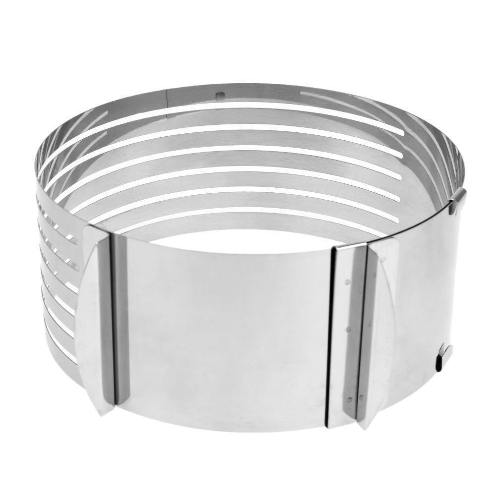 Adjustable Stainless Steel Mousse Cake Layer Cut Tool Cake Slicer Bakeware A#S