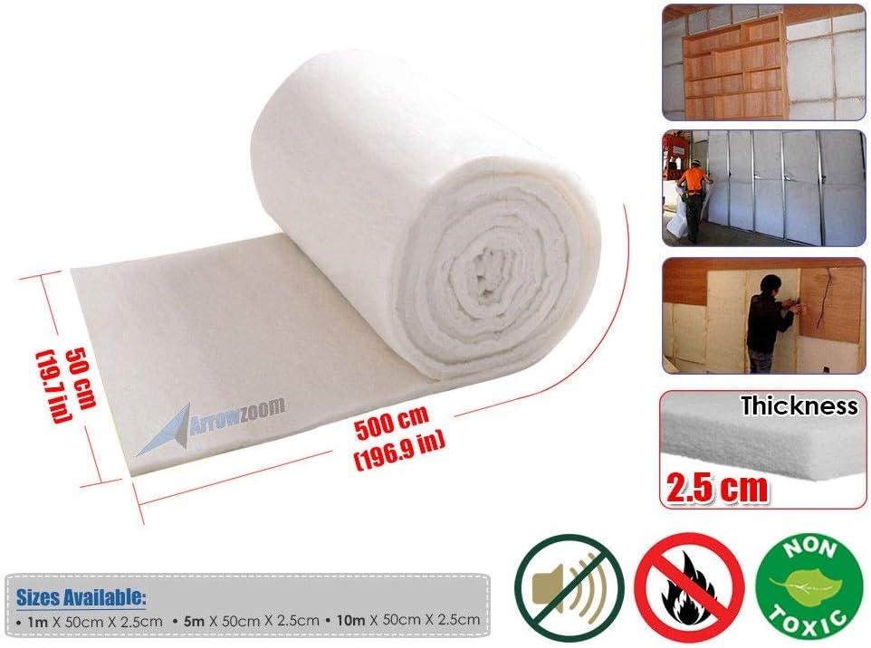 FidgetFidget Polyester Wadding Dacron Batting Upholstery Grade Fabric Sheet Roll 5 Meters