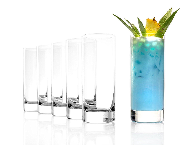 Stö lzle Lausitz New York Bar vaso de zumo 380 ml, set de 6 vasos de agua, aptos para lavavajillas, cristal sin plomo de alta calidad Stölzle Lausitz